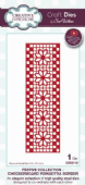 Sue Wilson Craft Dies - Festive Collection - Checkerboard Poinsettia Border- CED3112